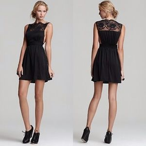 Free People 'Tea for Two' Lace Trim Dress